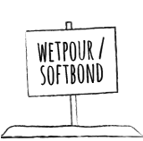 Wetpour softbounds surface