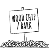 Wood chip bark surface