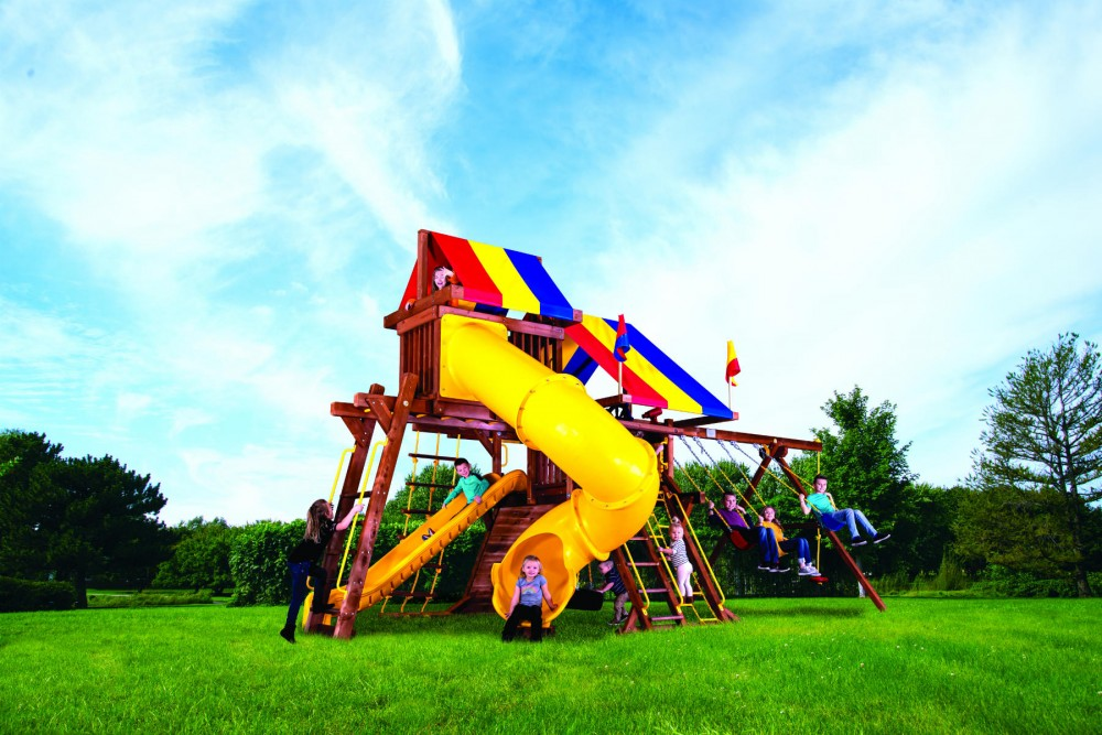 Sunshine Castle Pkg V with 270° Spiral Slide with Tarp