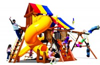 Rainbow Castle Pkg V with 360° Spiral Slide with Tarp
