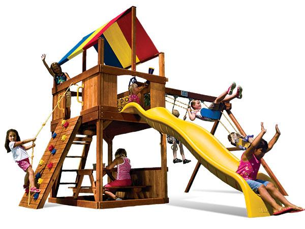 Carnival Clubhouse Wooden Climbing Frame Full