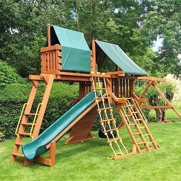 3 children who enjoy climbing and imaginative play